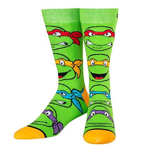 ODD SOX Unisex Turtle Boys Teenage Mutant Ninja Turtles Socks Green