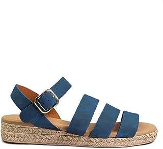Mejor Sandalias Azules Planas