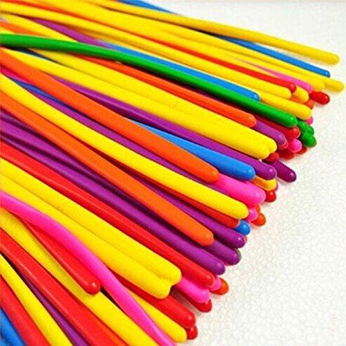logei 100 Pezzi Palloncini, Palloncini modellabili, Magici Palloncini per Feste, compleano, Matrimonio, ECC--Colore a Caso