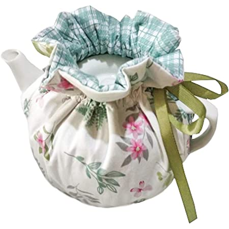 ZYEN Printed Tea Cosy Yellow 100/% Cotton Double Insulated Teapot Cover Keep Warm Kettle Cover Kitchen Tea Pot Dust Cover Vintage Tea Cozies for Hotel Tea Party Restaurant