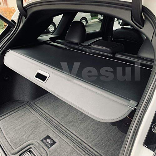 Vesul Black Tonneau Cover Retractable Rear Trunk Cargo Luggage Security Shade Cover Shield Fits on Infiniti QX50 2019 2020