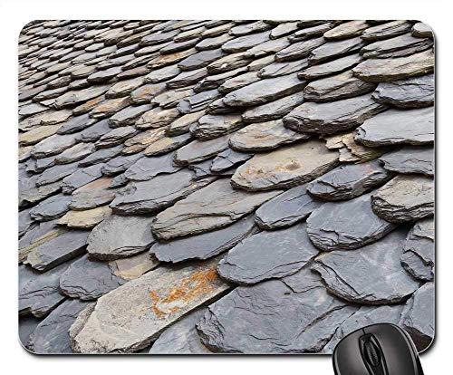 25X30cm Mausmatte Mauspad - Dachschiefer Pyrenäen Catalunya Schieferschindeln
