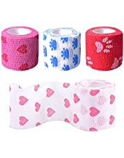 AODOOR 8 rollos de vendaje autoadherente, vendaje cohesivo vendaje elástico cinta deportiva cinta elástica cinta elástica para lesiones para muñeca esguinces de tobillo, hinchazón, vendaje veterinario