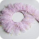10 cm de ancho Color caramelo Color borla Tul Encaje Línea de tela Decoración del hogar Accesorios F...