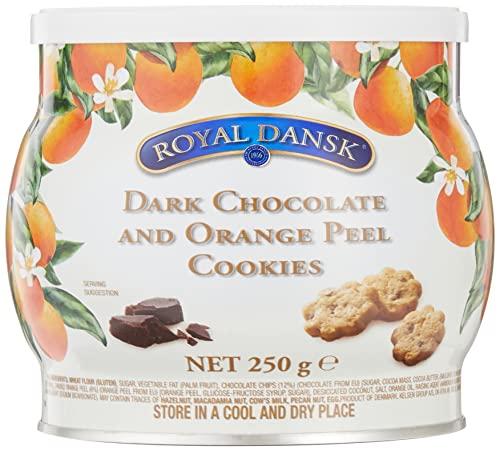 ロイヤルダンスク ダークチョコ&オレンジピールクッキー 250g