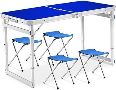Amazon.com: Mesa y silla plegables de tres piezas, traje de ...