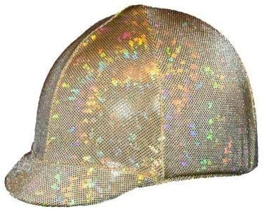 Equestrian Riding Helmet 2021 autumn and winter Financial sales sale new Cover Holographic - Gold