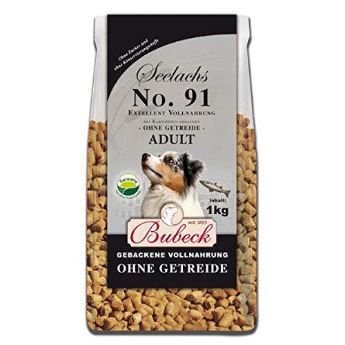 Bubeck | Trockenfutter mit 100% Seelachs | getreidefreies Hundefutter | natürlich gebacken | besonders gut verträglich