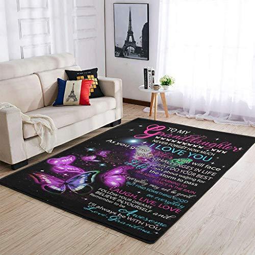 shenminqi Area Rugs to my nidaugher never forget how much i love you alfombra alfombra para dormitorio, sala de estar dormitorio niños habitación blanco 91 x 152 cm