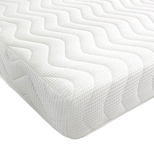 BEDZONLINE Memory Foam and Reflex Mattress with border micro quilted exclusive cover to (4FT SMALL DOUBLE)