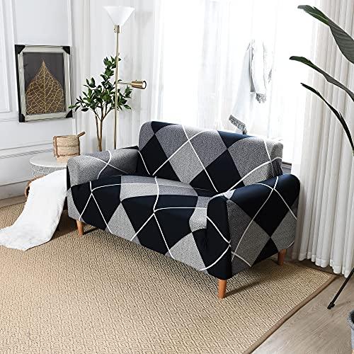 ASCV Funda de sofá Impermeable Funda de sofá elástica Funda de sofá Funda de sofá Impresa A3 2 plazas