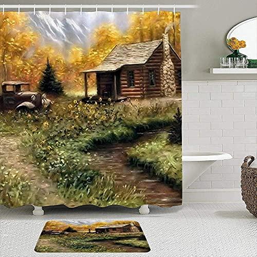 PUNKDBOTTO Badezimmer-Dekoration, Cabin de...