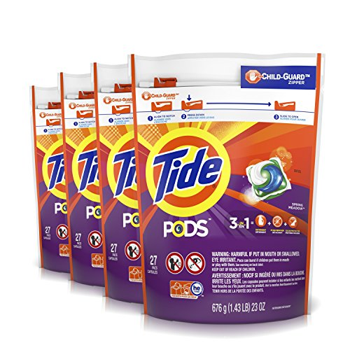 Tide Pods Spring Meadow He Turbo Liquid Detergent Pacs, 108 Count (Packaging May Vary)