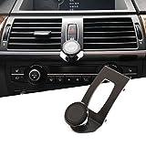 CHEYA 3 Colors Alumium Alloy Mobile Phone Holder Car Center Console Air Vent Cell Phone Mount Trim for BMW X5 E70 2007-2013 BMW X6 E71 2008-2014 (Black)