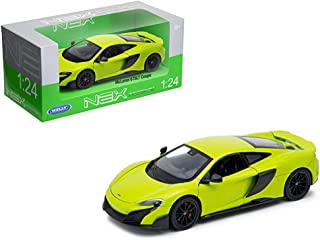 WELLY Mclaren 675Lt Coupe 1/24 Scale Diecast Model Toy Car, Green 24089W-Grn