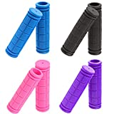 GNAWRISHING Bicycle Handlebar Grips, 4 Pair, Non-Slip Rubber Mushroom Bike Grips, Suit for Scooter/Tricycle/Wheel Chair/Mountain Road Urban Bike/MTB/BMX