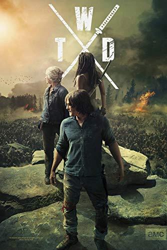 GZCJHP The Walking Dead Poster Season 10~1 Zombie TV Series Art Silk Poster Canvas Print 13x20 24x36 inch for Room Decor Decoration-006 (20x30cm Canvas)
