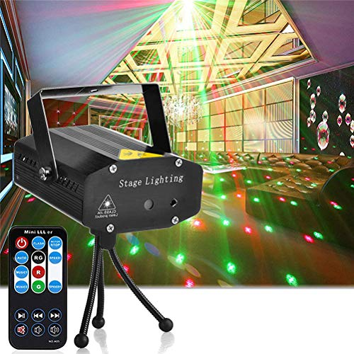 N \ A LED Disco Lights Party Light, Strobe Light Mini Auto Flash Dj Stage Strobe Lights Sound Activated with Remote Control, DJ Light for Parties Room Birthday Party