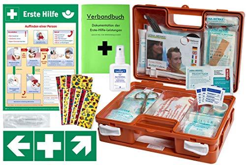 Erste-Hilfe-Koffer KITA M1 -Komplettpaket- nach DIN/EN 13157 für Betriebe + DIN/EN 13164 für KFZ inkl. 1.Hilfe AUSHANG & Folienaufkleber