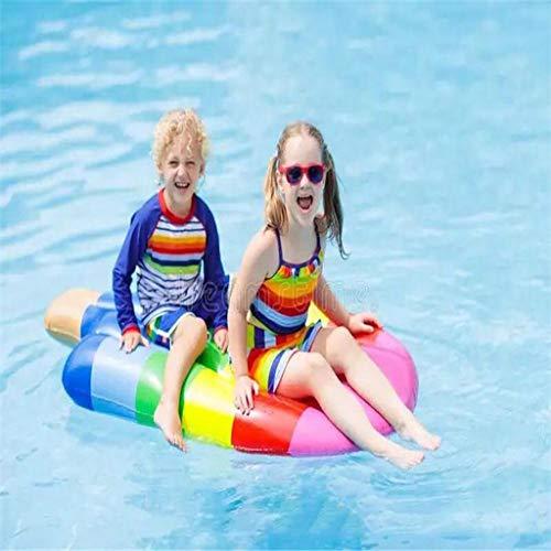 MDDCER Piscina Inflable Juguetes 3D Colorido Piscina De Flotación Helado Piscina Flotador Inflable Flotador Gigante Juguetes De Agua color-180 * 66 * 16cm