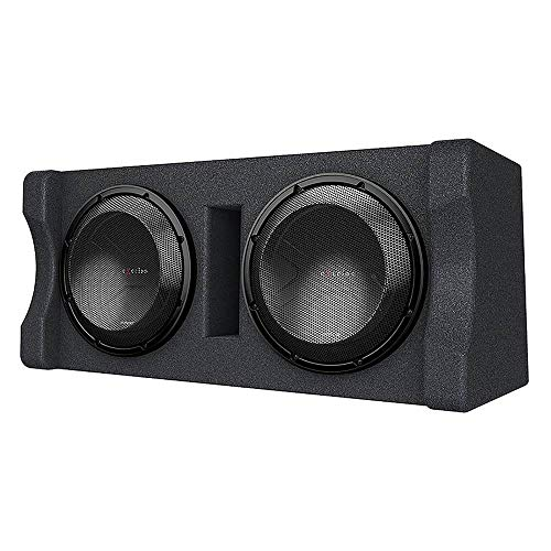 "Kenwood Excelon P-XW1221D Ported 2-ohm Dual Loaded Enclosure with Two 12"" Subwoofers"