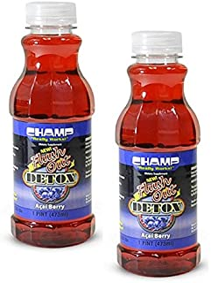 Champ Flush Out Detox Drink, Acai Berry, 1 Pint (2 Count)