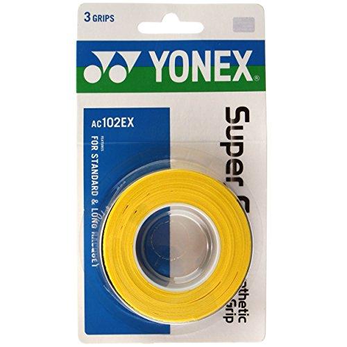 Yonex Overgrip Super Grap 3er, Gelb, 0196000121400000