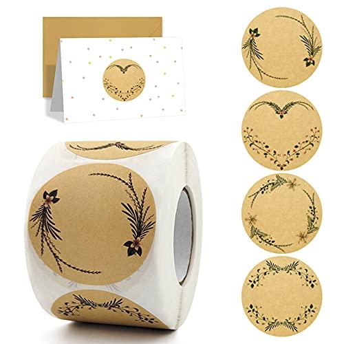 Hwtcjx chiudipacco adesivi, adesivi personalizzati matrimonio, adesivi handmade, adesivi in carta kraft, una varietà di motivi, scrittura a mano facile da strappare, segni. (1 volume, 500 fogli, B)