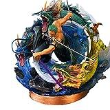 50Cm Anime One Piece Gk Roronoa Zoro Thousand World Tornado Battle Forma Figura Estatua PVC Figuras ...