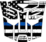 Thin Blue Line- Transformer Autobot Blue Line Decal Vinyl Sticker 4'