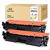 Superpage Compatibile Toner per HP CF217A 17A [Con Chip] per HP LaserJet Pro M102w M102a MFP M130nw MFP M130fw MFP M130fn MFP M130a Stampanti,2xNero Cartuccia Del Toner