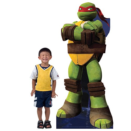 7 ft. TMNT Teenage Mutant Ninja Turtles Raphael Standee Standup Photo Booth Prop Background Backdrop Party Decoration Decor Scene Setter Cardboard Cutout