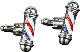 OULII 2 clips para corbata de estilo Barber para hombre, estilo barra, corbata, para negocios, fiesta de noche (plateado)