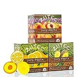 Zutec - Cápsulas de Zumo Surtido (Naranja, Piña y Melocotón) - Compatibles con cafeteras Dolce Gusto* - 3 Estuches de 12 cápsulas - 36 cápsulas