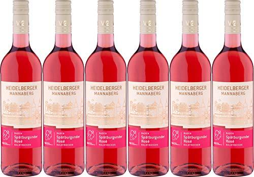 Winzer von Baden Spätburgunder Rosé Heidelberger Mannaberg 2020 Halbtrocken (6 x 0.75 l)