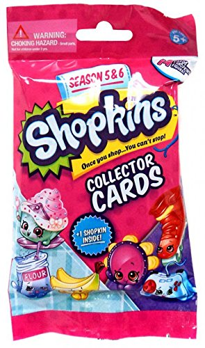 Shopkins Season 5 & 6 Collector's Cards 14 cards and 1 Figure 1 pack
