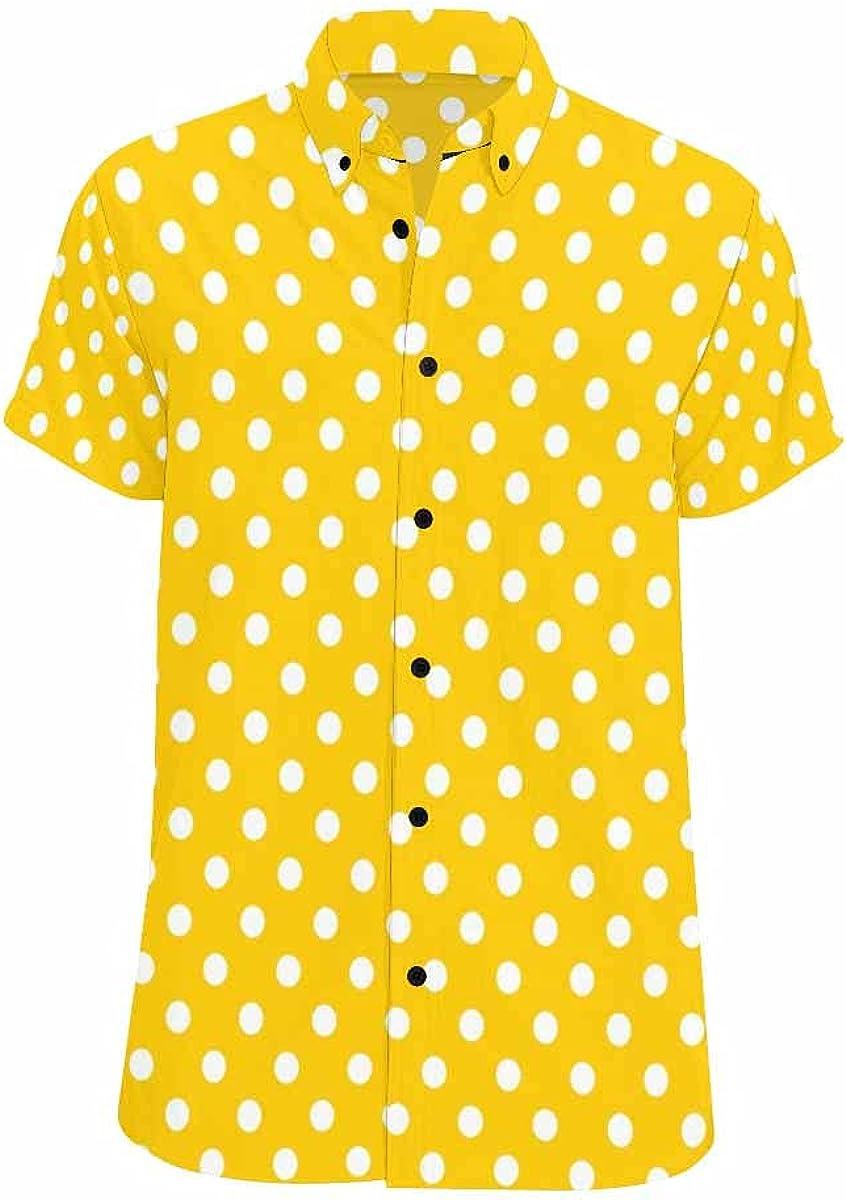 InterestPrint Planets Stars and Galaxies Summer Relax Shirts Hawaiian Button Beach Casual Shirt for Men