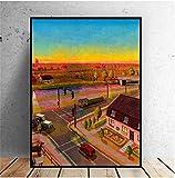 Limburg Holland Art Poster Druck auf Leinwand Bilder für