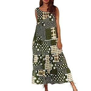 Plus Size Dresses for Women Boho Summer Casual Beach Long Maxi Tank Dress