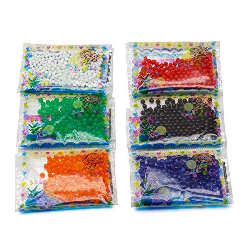 AKORD Lot de 24 sachets de Perles d'Eau pour décoration de Mariage Multicolore 28,2 x 11 x 1 cm