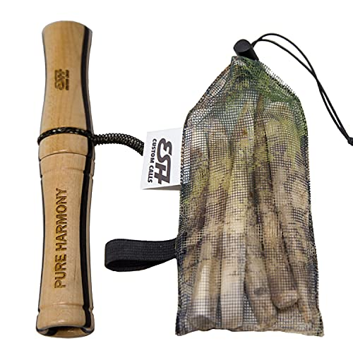 ESH Custom Calls Real Antler Rattle Bag - Laminated Wooden Deer Grunt Call - Deer Antler Rattle for Hunters - Grunt Tube Deer Call for Hunting - Weather Resistant and Durable Deer Call