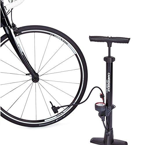 Camden Gear Fahrradpumpe, Luftpumpe für Fahrrad mit Alle Ventile z.B. Französisches und Auto Ventil, Standpumpe mit Manometer Fahrradluftpumpe Adapter - 8