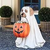 Ghost Dog Candy Bowl Holder, Halloween Dog Candy Bowl, Halloween Dog Candy Holder, Outdoor Halloween Candy Bowl, Halloween Candy Bowl Large Pumpkin Candy Dish-Dog