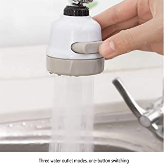 Faucet Water Filter,3 Modes Position Adjustable Sink Faucet Water Filter,High Water Flow Tap Water Purifier for Home Kitchen Bathroom,Booster Shower Water Saver Extender Splashproof Filter Tap Device