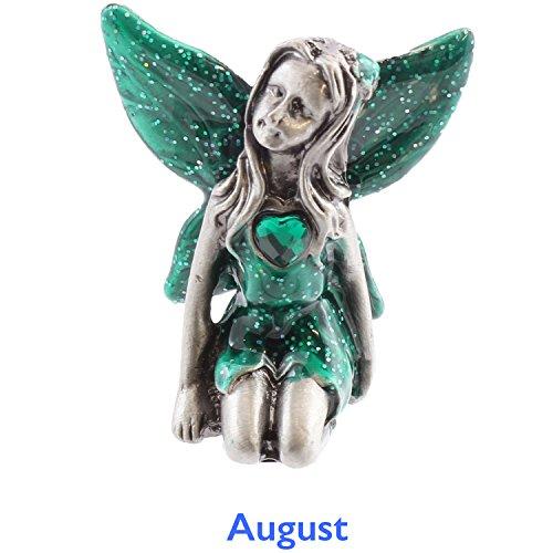 Viceni Birthday Collection - Figura de Hada, Peltre, con Piedra de Nacimiento de Agosto