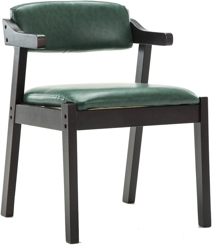 Solid Wood Dining Chair, Armchair Cloth Armchair Retro Cafe Chair Desk Chair Bar Restaurant Bar Stool 52  59  74CM