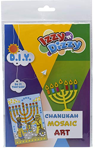 Izzy 'n' Dizzy Hanukkah Mosaic Art Kit - Includes 8' x 6' Board and Foam Squares - Chanukah Arts and Crafts - Gifts and Games