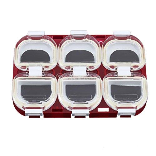 Produit Neuf Plastique étanche magnétique Crochets de pêche Boîte étui de Rangement Support pour Attaquer Gear Rouge