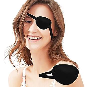 Luxtrip 1 Pack Black Eye Patch   Single Eye Mask   Adult Kid s   Adjustable Buckle Eye Mask for Amblyopia Lazy Eye