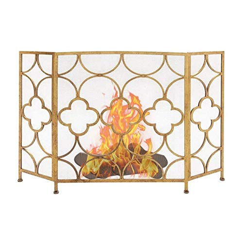 Spark Guard Home Fireplace Screen for Babies, Safety Metal Fireproof Mesh Cover Gas Hearth Guard, Extra High Spark Panel Fireplace Tools Accessories